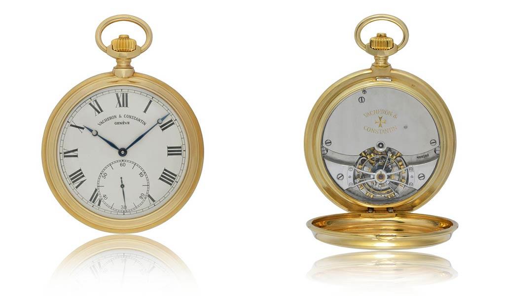 Карманные часы из желтого золота с одноминутным турбийоном Vacheron Constantin