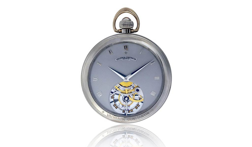 Карманные часы из белого золота Les Complications с турбийоном