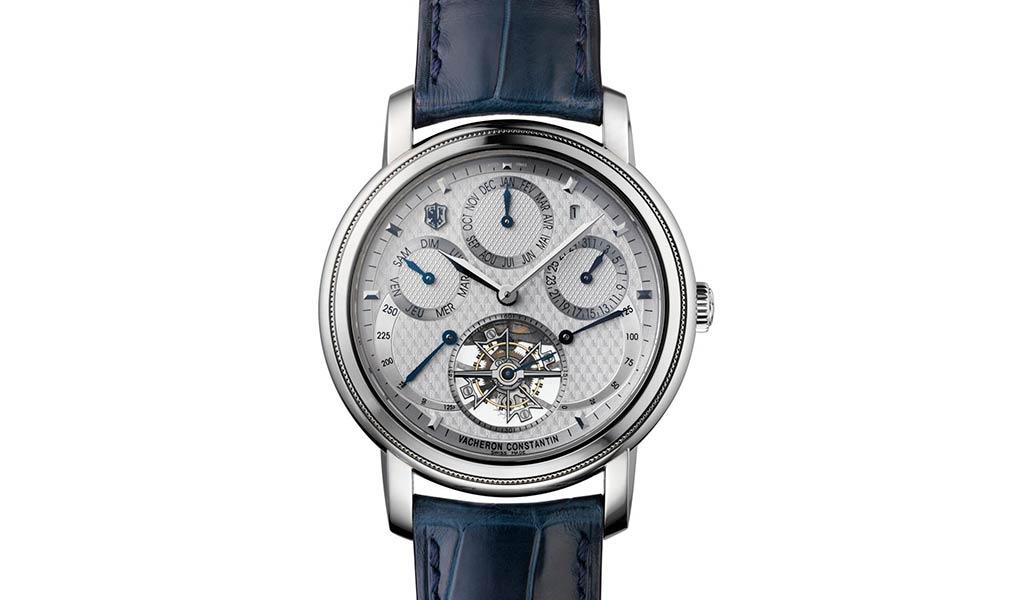 Наручные часы Saint-Gervais из платины с турбийоном, вечным календарем и индикацией запаса хода