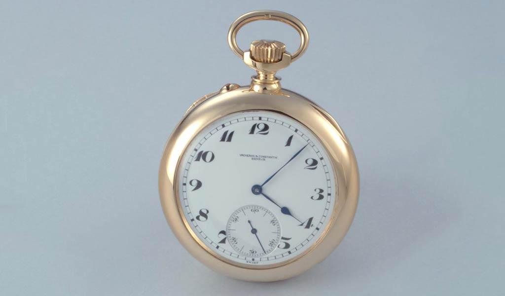 Карманные часы из желтого золота с одноминутным турбийоном