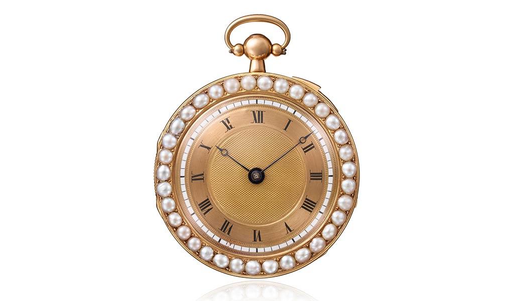 Карманные часы из розового золота с четвертным музыкальным репетиром