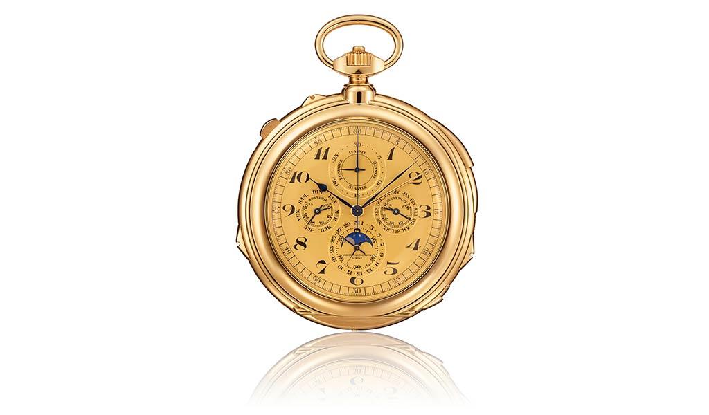 Карманные часы из желтого золота короля Фарука I с высоким усложнением