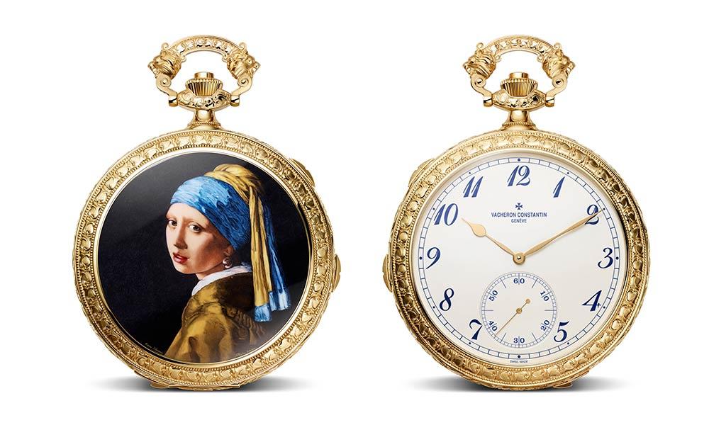 Часы Les Cabinotiers Sonnerie Westminster из желтого золота, «Посвящение Яну Вермееру»
