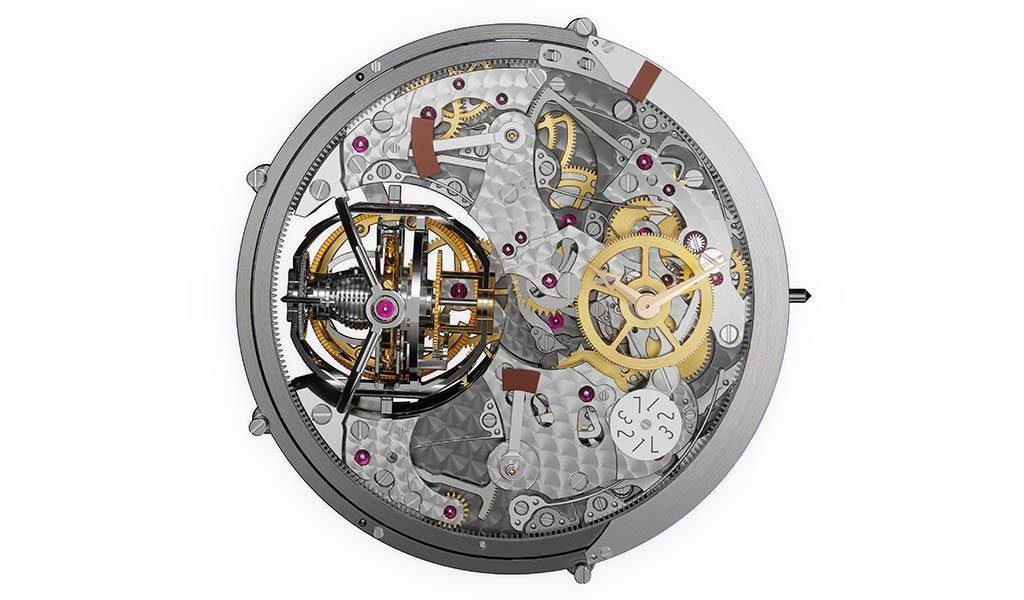 Швейцарский часовой механизм с турбийоном Vacheron Constantin