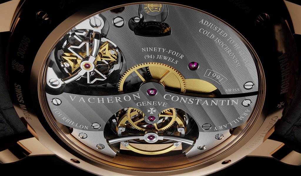 Швейцарские часы с армиллярным турбийоном и вечным календарем Planetaria