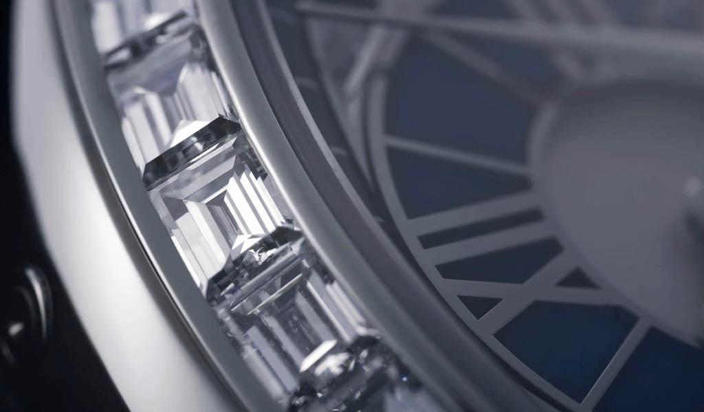 Швейцарские механические часы Moonlight Jewellery Sapphire