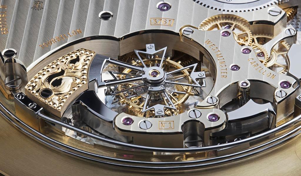 Часовой механизм с турбийоном Vacheron Constantin