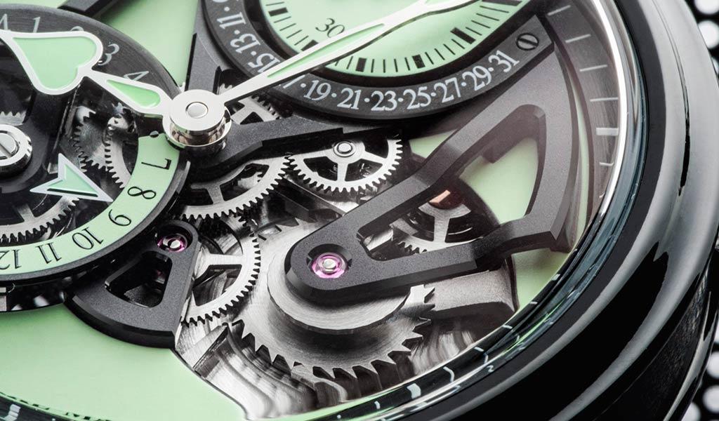 Механические часы с ретроградной датой Speake-Marin