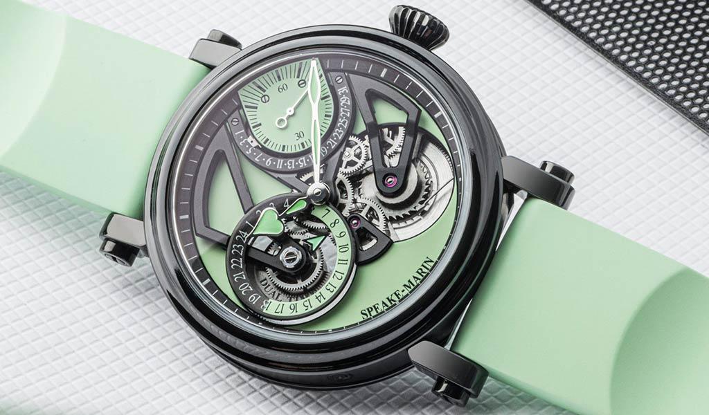 Механические часы с двойным временем Speake-Marin