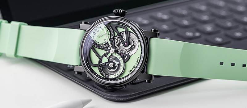 Новая модель One&Two OPENWORKED Dual Time MINT от Speake-Marin