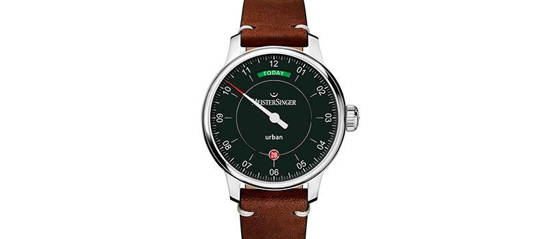 Наручные часы MeisterSinger Urban Day Date «Edition Today» с оригинальным отображением дня