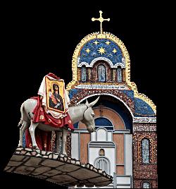 Ослик с иконой в Йошкар-Оле