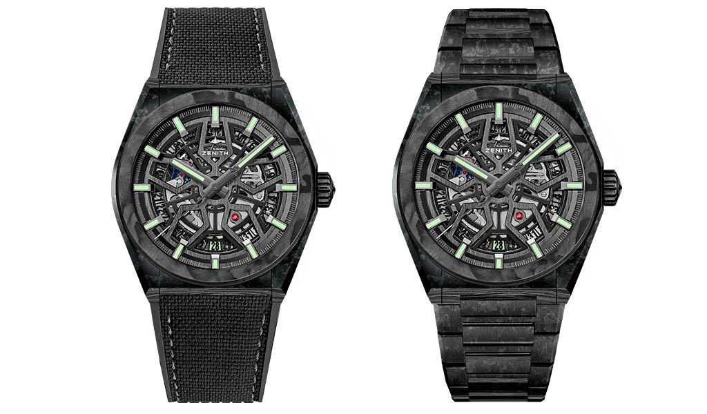 Новые наручные часы Zenith Defy Classic Carbon