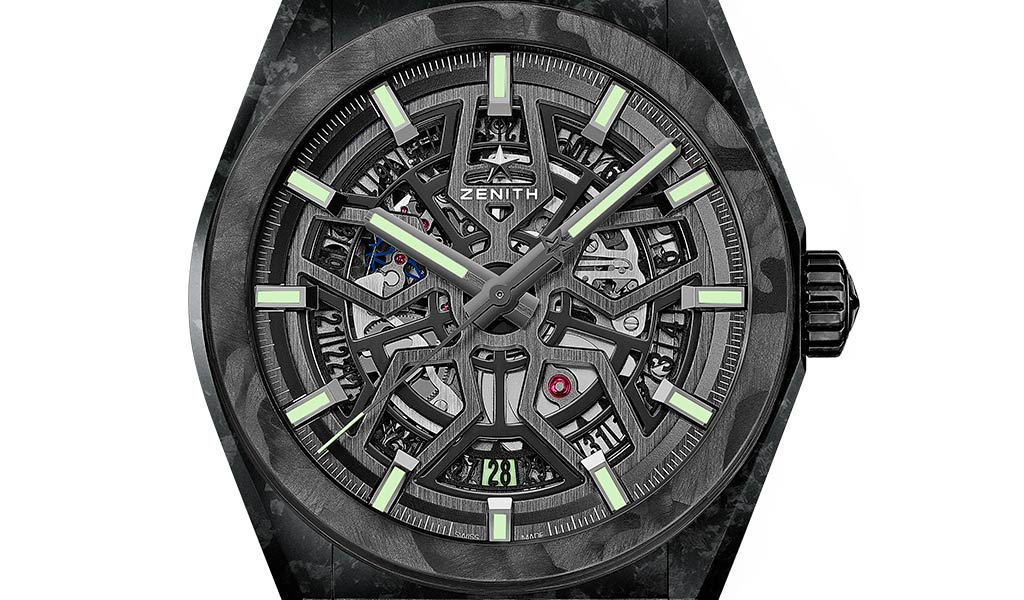 Часы из карбона Zenith Defy Classic Carbon