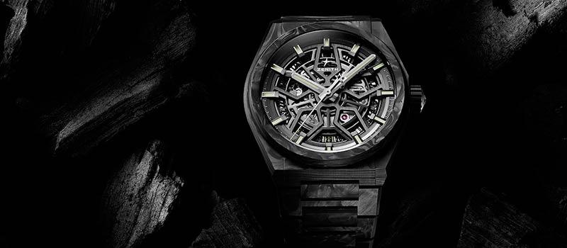 Наручные часы Zenith Defy Classic Carbon с карбоновым корпусом и браслетом