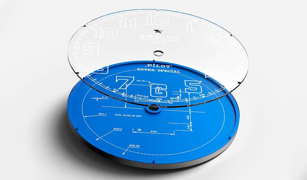 Циферблат Pilot Type 20 Blueprint