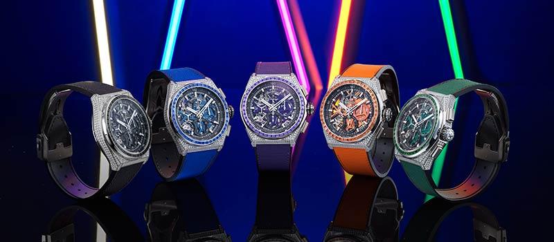 Игра с частотой в обрамлении сверкающих бриллиантов: Zenith фокусируется на натуральных цветах в серии часов DEFY 21