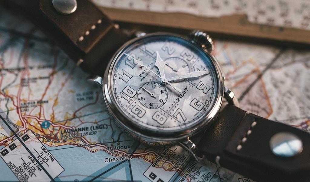 Часы пилот Pilot Type 20 Chronograph Silver